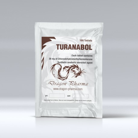 Dragon Pharma Turanabol 100 Tabs (20 mg/tab)