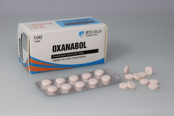 British Dragon Oxanabol Tablets 100 tablets of 10mg in a 10 blisters