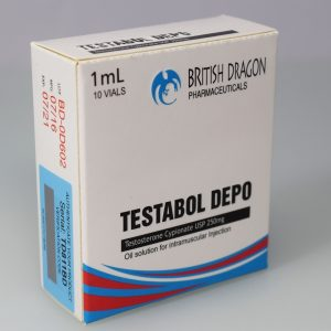 British Dragon Testabol Depot Inject 10 Glass Vials 1 mL (250mg/ml)