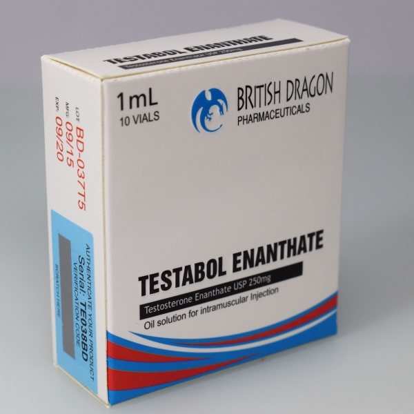 British Dragon Testabol Enanthate Inject 10 Glass Vials 1 mL (250mg/ml)