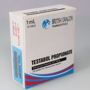 British Dragon Testabol Propionate Inject 10 Glass Vials 1 mL (100mg/ml)
