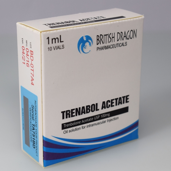 British Dragon Trenabol Acetate Inject 10 Glass Vials 1 mL (100mg/ml)