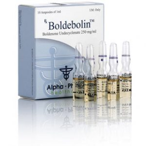 Alpha-Pharma Boldebolin 10 ampoules of 1ml (250mg/ml) or one vial of 10ml (250mg/ml)