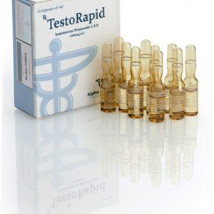 Alpha-Pharma TestoRapid 10 ampoules of 1ml (100mg/ml) or one vial of 10ml (100mg/ml)