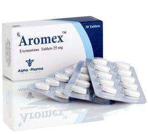 Alpha-Pharma Aromex 3 strips of 10 tablets  (25 mg/tab)